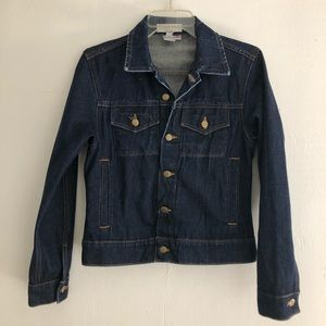 American apparel denim button down jacket
